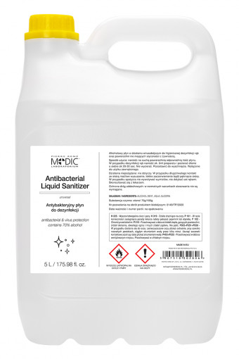 Antibacterial Liquid Sanitizer 5000 ml